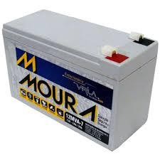 Bateria Moura 12 Volts 7 Amperes Para Nobreak/Alarme/Cerca Eletrica