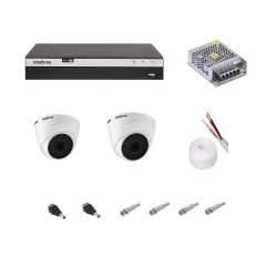 KIT CAMERA INTELBRAS COM DVR MHDX3104  e 2 CAMERAS INTERNAS VHL1120 D
